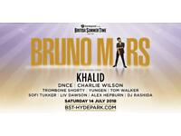 3x Bruno Mars live at Hyde Park tickets