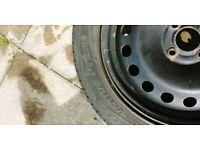 Spare steel wheel tyre ventus prime k105 205/55r16 tread very good almost new