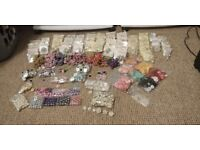 New assorted brooches buttons & embellishments : pearl diamante vintage wedding crafting bouquets