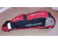 Slazenger hockey stick and kit bag