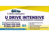 One week driving courses & Theory training. Automatic & Manual cars.