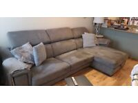 Lush 3 seater chaise sofabed from Sofology