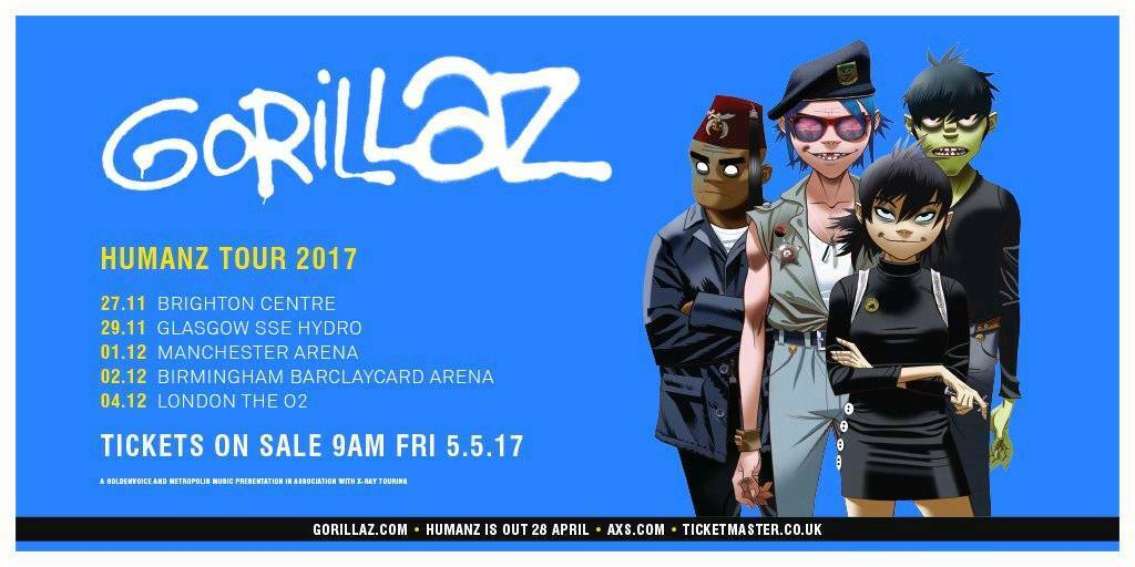 Gorillaz at the Hydro. 2 standing ticketsin Southside, GlasgowGumtree - Gorillaz at The SSE HydroWed, 29 Nov 20172 standing tickets. £120 for the pair