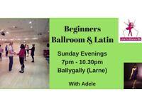 Beginners Ballroom & Latin Dance Classes - Ballygally, Larne - Sunday nights from 13th May 2018
