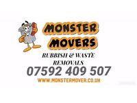 Monstermovers -Rubbish Removal & Waste removal Services - Skip hire alternative - home garden work
