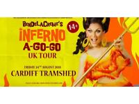 2x tickets to BenDeLaCrème's Inferno A Go-Go at Tramshed Cardiff