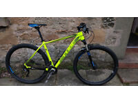 Mountain bike - Cube 2015 LTD pro 29 fluro yellow. Practically new.