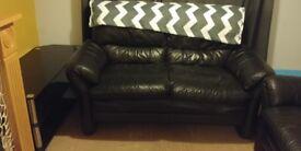 2 leather sofa's