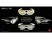 STAR WARS the force awakens cinema 3D glasses 4Xset limited edition