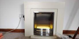Electric Fireplace - Cream
