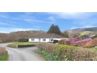 Mid-Wales, Spacious 4 Bed Bungalow, Immense potential, Situated in a stunningly beautiful location.