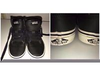 BOYS SIZE 12 VANS VERY GOOD CONDITION