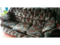 Free to good home- 3 seater and armchair
