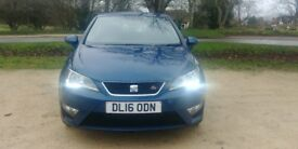 2016 SEAT IBIZA FR TECHNOLOGY SPORT COUPE 1.2 TSi 3 DOOR (BLUE) WITH SATNAV