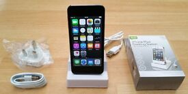 iPod Touch 5th Gen with iSight Camera, New Charger/Dock, Mint Condition, 16GB Space Grey