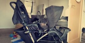 Double Graco pram, excellent condition few marks to the frame