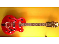Epiphone Limited Edition Wildkat Royale Pearl Red semi hollow body trade swap sell