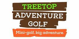 Team Leader at Treetop Adventure Golf. £20k salary per annum