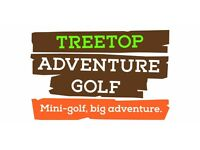 Team Leader at Treetop Adventure Golf. £20k salary per annum