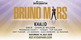bruno mars tickets Hyde park v.i.p diamond area