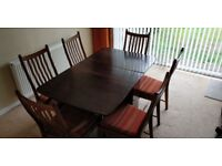 Ercol Windsor Penn Dining Room Chairs and Oak Dining Table
