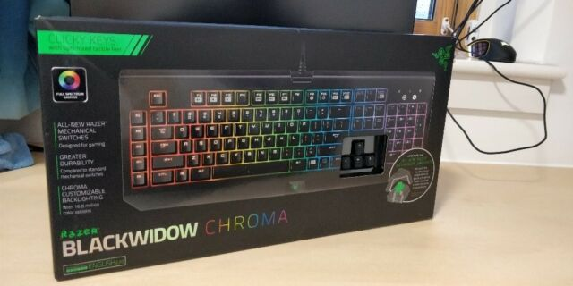 Razer BlackWidow Chroma Gaming Keyboard Clicky Mechanical Switches, 5 Macro  Keys, RGB Lighting | in Gillingham, Kent | Gumtree