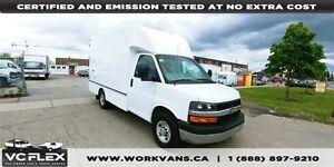 2014 Chevrolet Express G3500 12Ft Box Single Rear Wheels - NO CV
