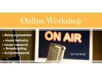 """Radio Presenter """"Online Workshop"""""""