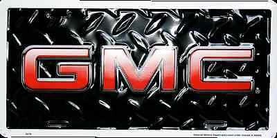 GMC CAR TRUCK TAG LICENSE PLATE BLACK DIAMOND DENALI SIERRA YUKON GMC -
