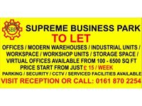 Supreme Business Park Print Works Lane, Levenshulme Offices Modern Warehouse Industrial Units to Let