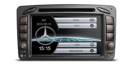 7 inch HD Car CD DVD USB SD Aux Stereo With Bluetooth Radio & GPS Navigation For Mercedes Benz
