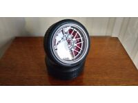 New Car Tyre Alloy Wheel Alarm Clock Decorative Timepiece Ornament