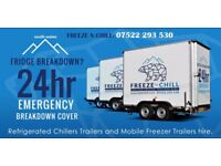Fridge and freezer trailers hire South Wales