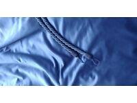 Royal blue pencil pleat blackout curtains