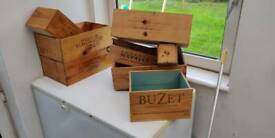 Assortment of Champaign boxes