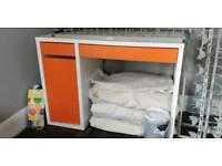 Ikea orange desk