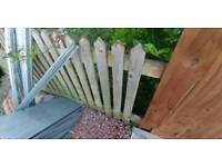 Wooden fence picket fence