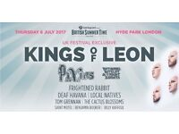 Kings of Leon - Pixies, Hyde park July 6th. British summer time