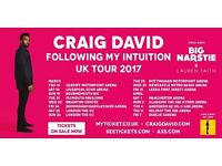 2x Craig David standing tickets, Manchester Arena, Saturday 1st April 2017