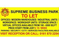 Offices/Modern Warehouses/ Industrial Units Workspace/Workshop Units/Storage Space TO LET