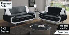 SUPER SALE PASSERO LEATHER SUITE 3+2 AVAILABLE IN 4 DIFFERENT COLOURS. FREE DELIVERY WITHIN 5 DAYS