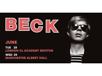 BECK this Tuesday 28th Jun in O2 Arena :) Last minute notice...Got 2 spare tickets to sell !!