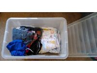 Bundle of clothing and sleeping bags age 1-3