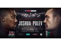REDUCED 2 floor seat tickets Joshua v Pulev