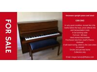 Neumann upright piano and stool