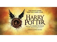 2x Harry Potter and the Cursed Child Ticket Saturday 4th March 2017 Orchestral Stalls (04/03/17)