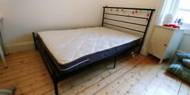 Double bed and mattress from Argos