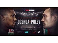 **Anthony Joshua vs Kubrat Pulev Boxing Tickets** Principality Stadium - FLOOR SEATS £350 28/10/17