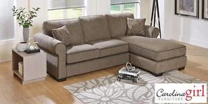 "PRICE REDUCED! Brand NEW ""Radical Sable"" 2-Piece Sectional! Call 709-634-1001!"