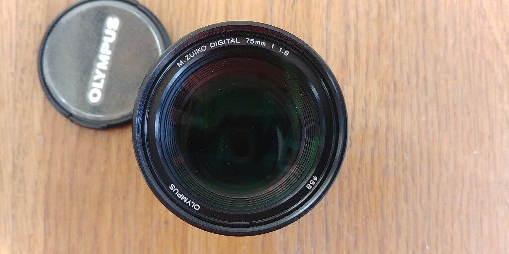 75mm f1.8 olympus lens *immaculate* (black)